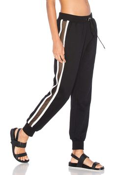 Lovers + Friends WORK by Lovers + Friends On the Line Track Pant in Black