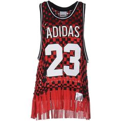 Adidas Originals By Jeremy Scott Vest (785 BRL) ❤ liked on Polyvore featuring red and reds jersey
