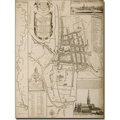 Trademark Art 'Map of Salisbury, 1751' Canvas Art by William Nash, Size: 14 x 19, Multicolor