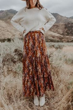Beautiful Day Skirt - Beautiful Day Skirt – One Loved Babe Source by wildatease - Long Skirt Outfits, Modest Outfits, Modest Fashion, Hijab Fashion, Korean Fashion, Boho Fashion, Fall Outfits, Summer Outfits, Cute Outfits