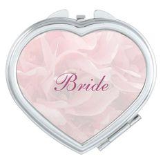 Poppy Petals Wedding Bride Compact Mirror