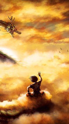 Goku/dragon ball z Dragon Ball Gt, Wallpaper Do Goku, Dragonball Wallpaper, Marvel Wallpaper, Wallpaper Art, Fan Art, Funny Dragon, Animes Wallpapers, Yuyu Hakusho