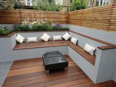 modern outdoor storage bench - Google Search