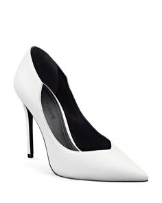 26ca7aa47 In pristine, optic white leather, Kendall + Kylie's fashion-forward Abi  single sole