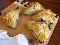 Quick and easy to make blueberry scones...perfect breakfast treat!