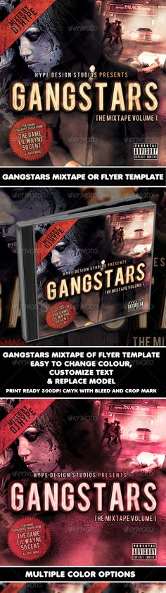 Street Rhymes Life Mixtape Cd Flyer Template Cover Event