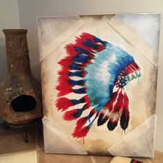 Hey, I found this really awesome Etsy listing at https://www.etsy.com/listing/263057393/headdress-canvas-painting
