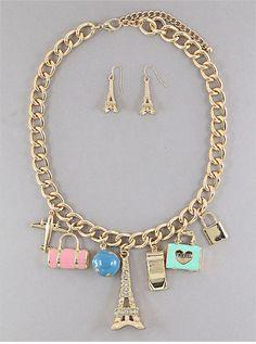 World Traveler Charm Necklace