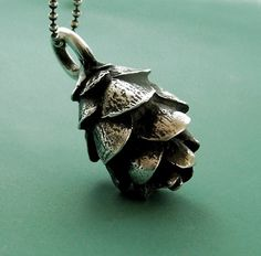 Sterling Silver Pine Cone Necklace - Hemlock. Other styles of pine cone are available.