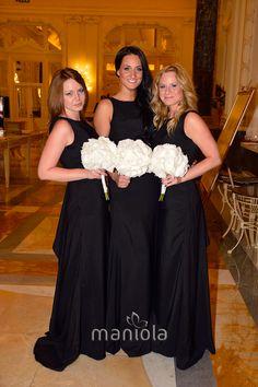Bridesmaid Dresses, Wedding Dresses, Black And White, Design, Fashion, Flattering Bridesmaid Dresses, Bride Gowns, Moda, Bridal Gowns