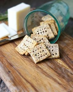 Easy Almond Pulp Crackers. (Vegan, Paleo) The perfect way to use the almond pulp leftover from making almond milk!