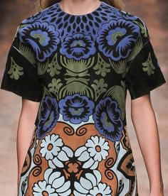 PRINTS, PATTERNS AND SURFACE EFFECTS: BEAUTIFUL DETAILS FROM PARIS FASHION WEEK (WOMAN COLLECTIONS SPRING/SUMMER 2015)
