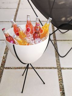 Party time! Store fun beverages in here for guests to grab.