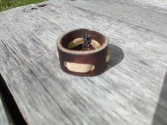 Leather Ring Brown Leather Ring Brown by ElkRiderTradingPost