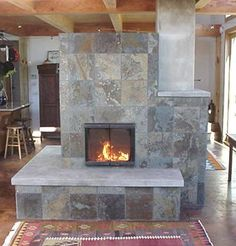 masonry stove kitchen | ... is a pic Calvin posted in a different thread. True masonry heater