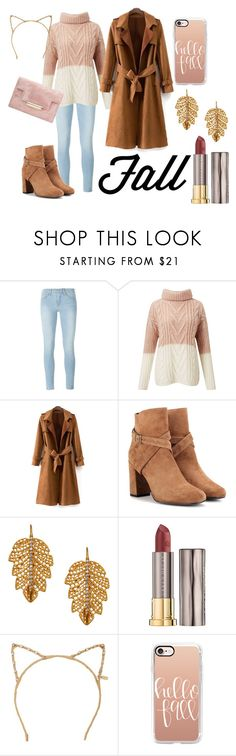 """Fall/Autumn Outfit"" by fiona137 ❤ liked on Polyvore featuring Frame, Miss Selfridge, Yves Saint Laurent, Marika, Urban Decay, Tasha, Casetify, Fall, casual and pretty"