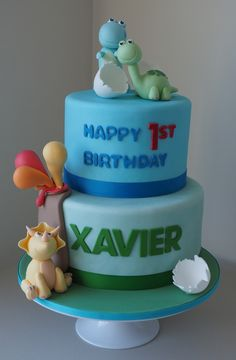 Boys dinosaur birthday cake fondant dinosaur cake toppers and