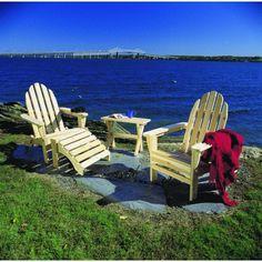 Rustic Natural Cedar Adirondack Folding Chair