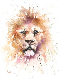 Life is just better with animals around! Light up your room and spirit with this fine art print of my watercolor lion painting. I hope you enjoy her as much as I enjoyed painting it!  ________________________________________________________  SIZE: choose the size that best fits your budget SIGNED by the artist MEDIA: fine art print (the original was painted in watercolors FRAMING not included  ** all prints are ------> printed on premium fine art velvet paper ------> printed using only the…