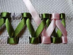 bordado con cintas Más