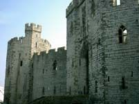 Caernarfon Castle, Wales with Royal Welch Fusiliers museum.  Explore stairways and tunnels.