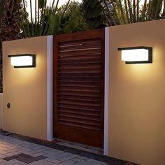 Solar Lights for your Garden Modern LED Outdoor Light – Warmly Best Outdoor Lighting, Modern Lighting, Lighting Design, Lighting Ideas, Midcentury Landscape Lighting, Outdoor Walls, Outdoor Spaces, Deco Led, Beautiful Front Doors