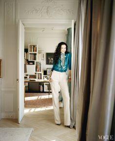 Fashion Designer L'Wren Scott's Paris apartment as seen in Vogue magazine. Photographed by François Halard