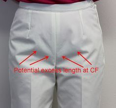 Sure-Fit Designs™ Blog: Front Crotch Length just a little too Long? (Trouser / Pants fitting and alteration to pattern.)