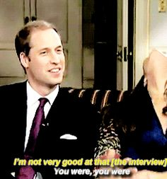 """georgeslays: """"Unaired footage of the end of William and Kate's engagement interview """""""