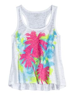 Girls Clothing | Tanks & Bandeaus | Patterned Flowy Tank | Shop Justice $22.00