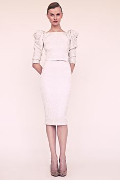 A dress for a civil ceremony? Marchesa Resort 2013 #celebstylewed #weddings @celebstylewed