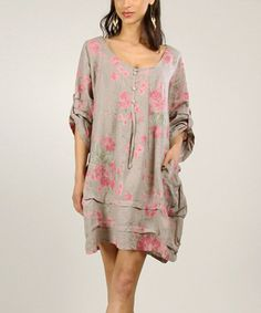 100% LIN     I would so wear this! Love linen, love the style and the print.