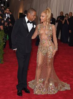 Pin for Later: A Look Back at Beyoncé and Jay Z's Most Stylish Couple Moments Yet  All eyes were on Beyoncé in her barely there Givenchy gown, but Jay Z was the perfect companion in a classic tux at the 2015 Met Gala.