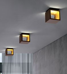 Cube lighting, sconces or ceiling. Icone Luce | Cubo