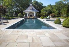 Pool Deck with Natural Stone from Unilock