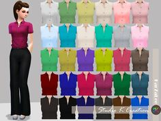 Tucked Plain shirtstandalone / 30 colors / new mesh by me / base game/ fit to all bodyMediafire download OR Baidu download