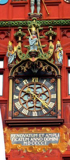 Basel Town Hall Clock, Switzerland
