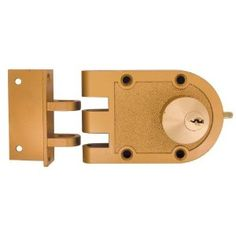 """Brass Double Jimmy Proof Deadlock by ULTRA HARDAWRE. $39.99. Brass Double Jimmy Proof Deadlock - CommercialJimmyproof lock with shutterguardFits doors 1-1/4"""" to 2-1/4"""" thickDouble cylinder features cylinders both inside and outside for extra protection on glass pane doorSurface installation requires one 1-1/4"""" diameter holeFurnished with angle strike bracket 44850"""