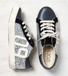 Silver Kim & Zozi Glitter Lo Sneaker