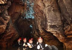 Who knew worms could be so lovely?! The Waitomo Glow Worm Caves can be found in Auckland, New Zealand.
