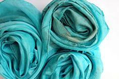 sea hand dyed play silk #playsilk #waldorf #pretend #imagination #play