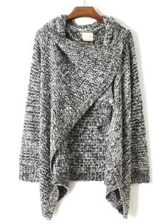 Draped Grey Sweater.