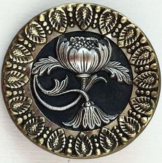 Very detailed Pewter and Brass Button
