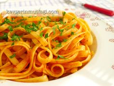 Pasta with Easy Tomato Paste Sauce Recipe | Turkish Style Cooking