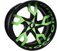 Green Custom Wheels, Tire Packages - CARiD.com