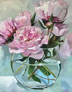 Acrylic Flowers, Abstract Flowers, Aesthetic Painting, Artist Painting, Painting Canvas, Flower Art, Lotus Flower, Watercolor Art, Street Art