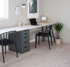 Superb photo - head to our content article for additional tips and hints! Diy Office Desk, Bedroom Office, Home Office Design, Home Office Decor, Home Decor, Shed Decor, Ikea Desk, Tiny Apartments, Modern Kitchen Design