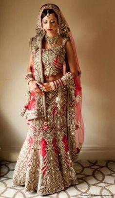 Heavy Designer Work Bridal Lehenga