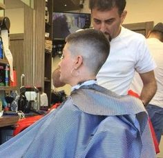 nice and tight Short Pixie, Short Cuts, Bald Fade, Shaved Head, Hair Transformation, Barber Shop, Hairdresser, Cool Hairstyles, Short Hair Styles