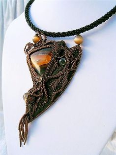 Ludmila Gubinova is beading artist from Ukraine. She makes beautiful jewelry in many different techniques - ganutell, beading, leather art, wirework and many others.  #14